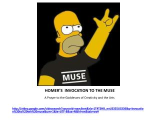 HOMER'S  INVOCATION TO THE MUSE