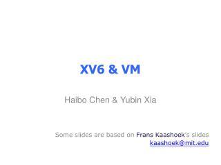 XV6 & VM
