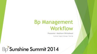 Bp Management Workflow