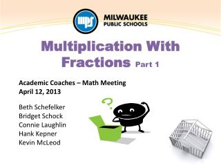 Multiplication With Fractions  Part 1
