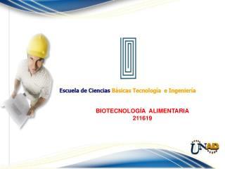 BIOTECNOLOGÍA  ALIMENTARIA 211619