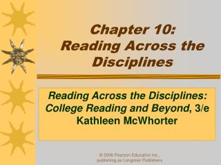 Chapter 10:  Reading Across the Disciplines