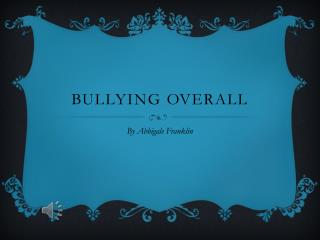 Bullying overall