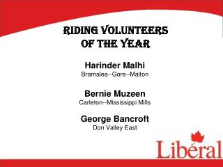 Riding Volunteers  of  the Year