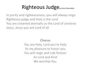 Righteous  Judge by  Henry  Maandebo