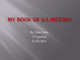My Book of U.S History