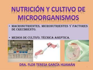 Macronutrientes , micronutrientes y factores de crecimiento.