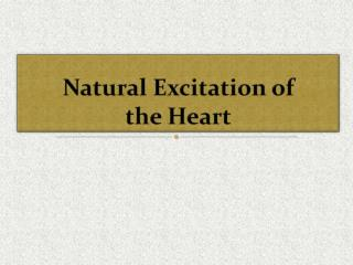 Natural Excitation of the Heart
