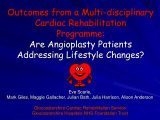 Outcomes from a Multi-disciplinary Cardiac Rehabilitation  Programme:  Are Angioplasty Patients Addressing Lifestyle Cha