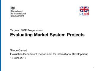 Targeted  SME  Programmes: Evaluating Market System Projects