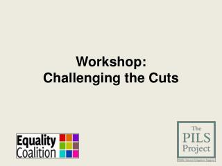 Workshop:  Challenging the Cuts