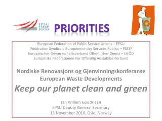 European Federation of Public Service Unions – EPSU