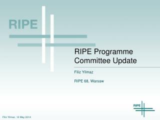 RIPE  Programme  Committee Update