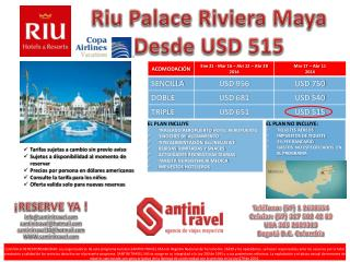 Riu Palace Riviera Maya Desde USD 515