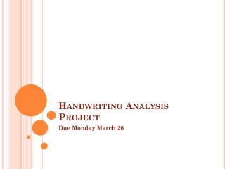 Handwriting Analysis Project