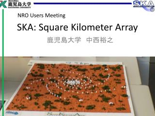 SKA: Square Kilometer Array