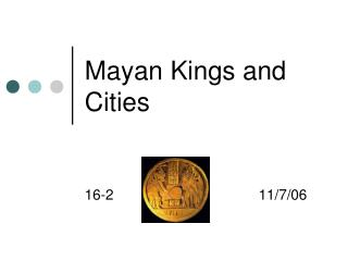Mayan Kings and Cities