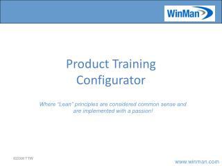 Product Training Configurator