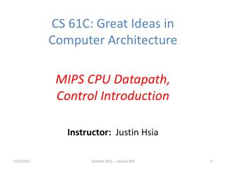 Instructor:   Justin Hsia