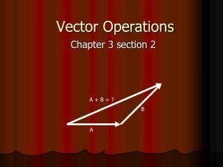Vector Operations