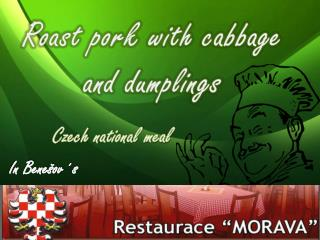 Roast pork with cabbage and dumplings