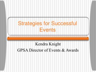 How to Throw Events for Graduate Student Organizations