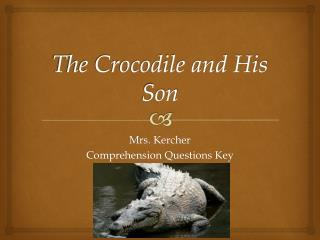 The Crocodile and His Son
