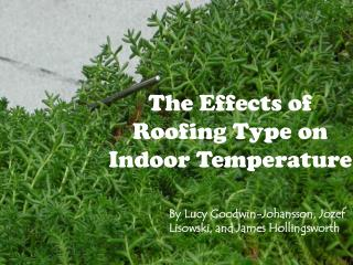 The Effects of Roofing Type on Indoor Temperature
