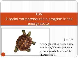 ABN  A social entrepreneurship program in the energy sector