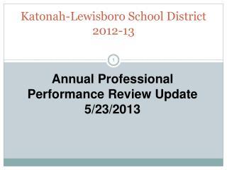 Katonah-Lewisboro School District 2012-13