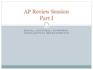 AP Review Session  Part I