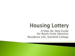 Housing  Lottery