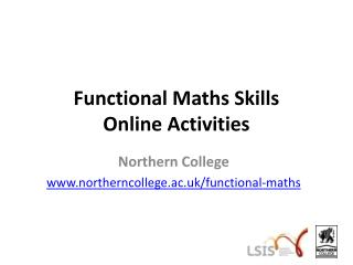 Functional Maths Skills Online Activities