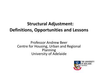 Structural  Adjustment: Definitions, Opportunities and Lessons