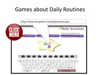 Games about Daily Routines