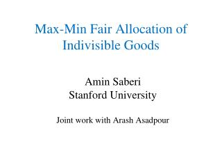Max-Min Fair Allocation of  Indivisible Goods