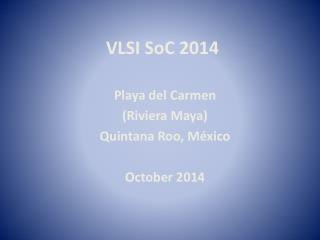 VLSI  SoC  2014