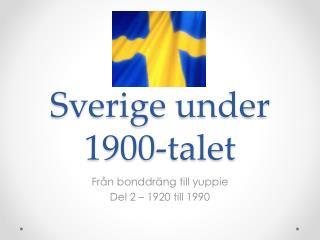 Sverige under 1900-talet