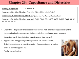 Chapter 26          capacitance