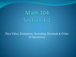 Math 104 Section 1.1