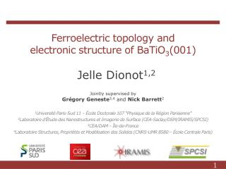 Ferroelectric topology and electronic structure of BaTiO 3 (001)