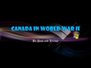 Canada In World War II