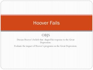 Hoover Fails