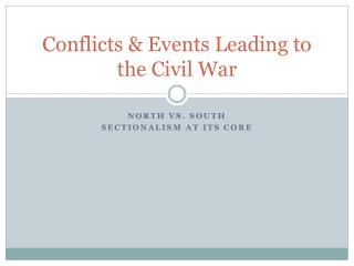 Conflicts & Events Leading to the Civil War