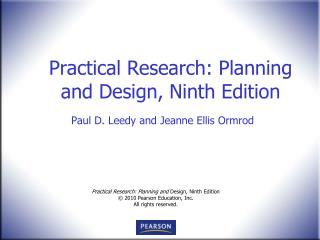 Practical Research: Planning and Design, Ninth Edition