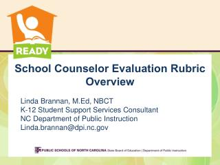 School Counselor Evaluation Rubric Overview