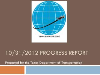 10/31/2012 progress report
