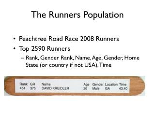 The Runners Population