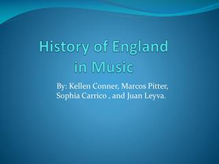 History of England in Music