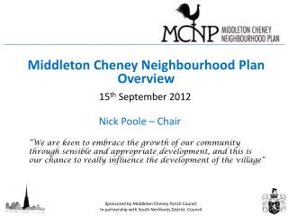 Middleton Cheney Neighbourhood Plan Overview